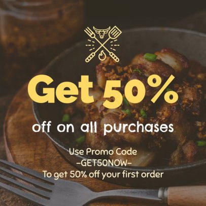 Coupon Template for a Restaurant Promotion 1016b