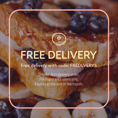 Delivery Coupon Design Template 1016d