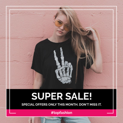 Edgy Instagram Post Creator for Fashion Sales 1102d