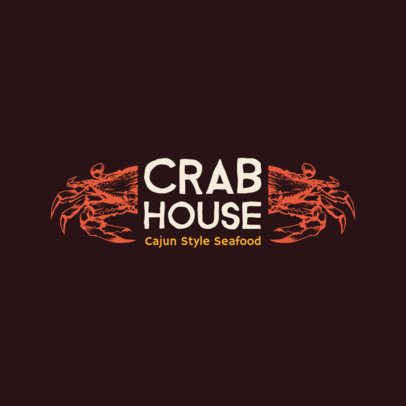 Seafood Logo Maker with Crab Illustrations 1800d