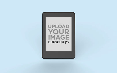 Kindle Mockup Standing Against a Plain Surface 26140