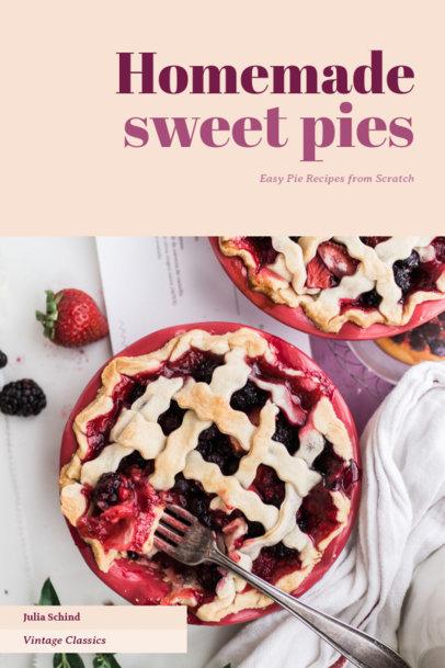 Dessert Cookbook Cover Template with Modern Design 926b