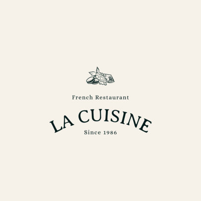 Bistro Logo Maker with French Icons 1807