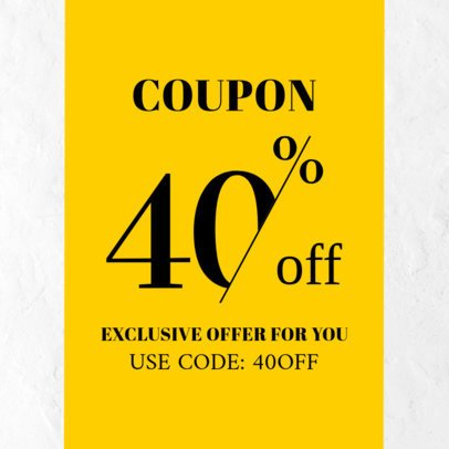 Discount Coupon Template with a Bold Design 1019b