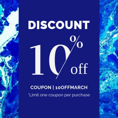 Customizable Coupon Template with a Colorful Background 1019e