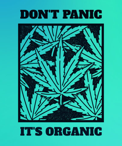 Marijuana T-Shirt Design with a Relaxed and Funny Weed Design 1061e
