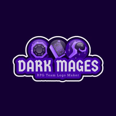 Gaming Logo Maker for an RPG Mages Team Logo 1742c