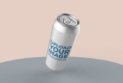 Mockup of a Can Leaning in a Minimalist Scenario 26116