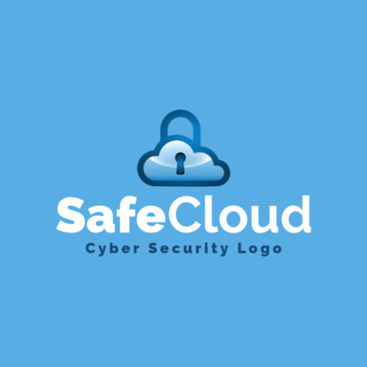 Cyber Security Logo Maker for Cloud Security 1790c
