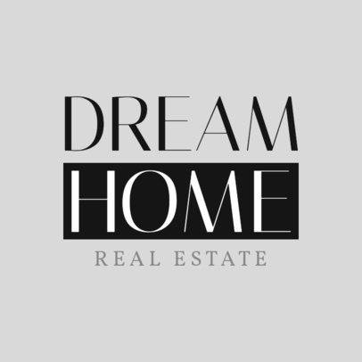 Minimalist Real Estate Logo Design Maker 1348b