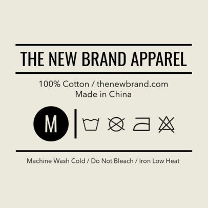T-Shirt Label Design Template with Simple Design 1141