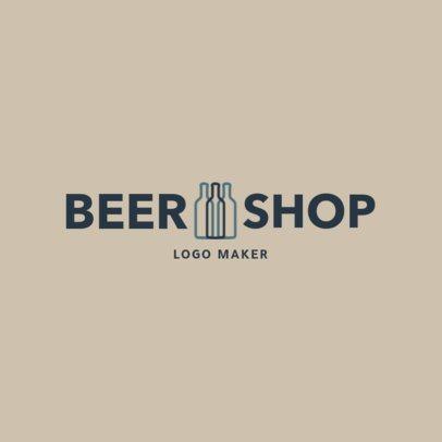 Liquor Store Logo Design Template for a Beer Shop 1812e