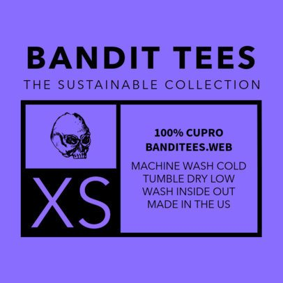 T-Shirt Label Design Template 1133