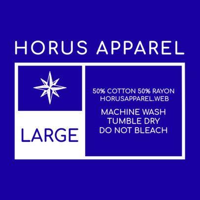 Clothing Label Design Maker 1133a