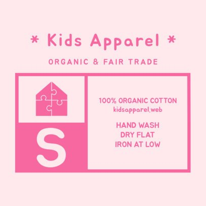 Kids Clothing Label Design Template 1133d