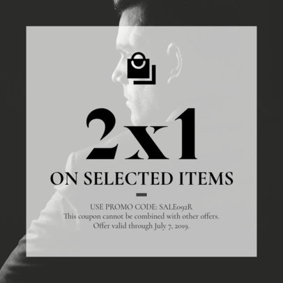Coupon Design Template for a Menswear Brand 1015a-1819