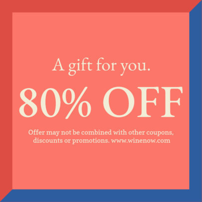 Discount Coupon Design Template with a Simple Colored Style 1034c
