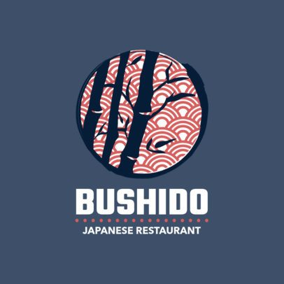 Japanese Food Logo Maker with Bamboo Graphics 1818d