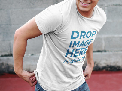 Apparel Mockup Featuring a Man Wearing a T-Shirt 7185a