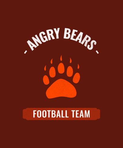 Football Team T-Shirt Design Maker 484g