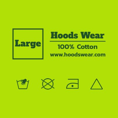 Clothing Label Design Maker for Hoodies 1138e