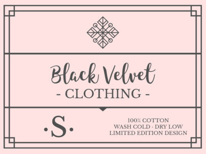 T-Shirt Label Design Template for Fashion Brands 1137