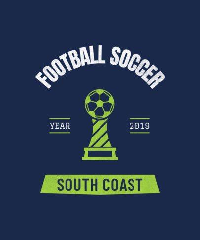 Soccer Team T-Shirt Design Generator 484i