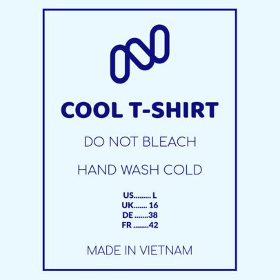T-Shirt Tag Design Template with an Abstract Graphic 1145c