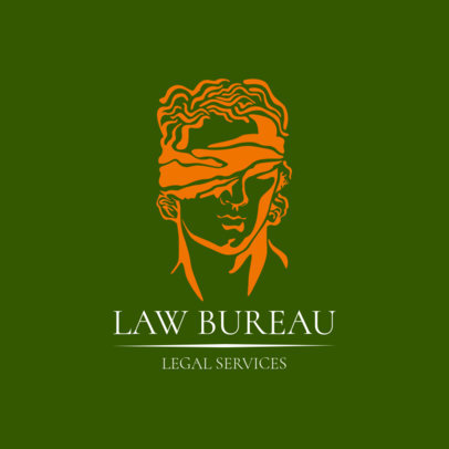 Law Firm Logo Maker with a Lady Justice Clipart 1851c