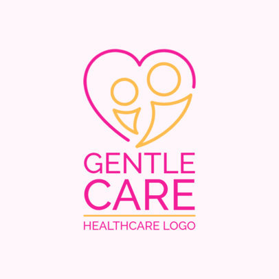 Gentle Home Health Care Logo Maker with Heart Graphics 1806c