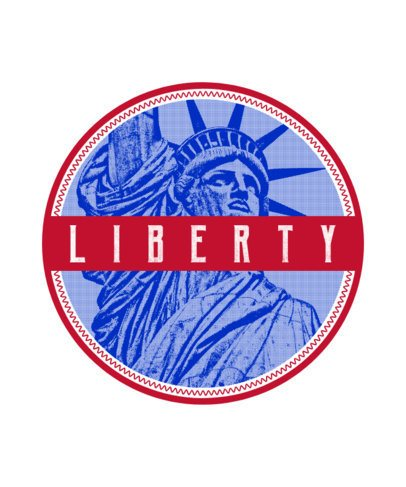Patriotic T-Shirt Design Maker with Liberty Statue Clipart 266f