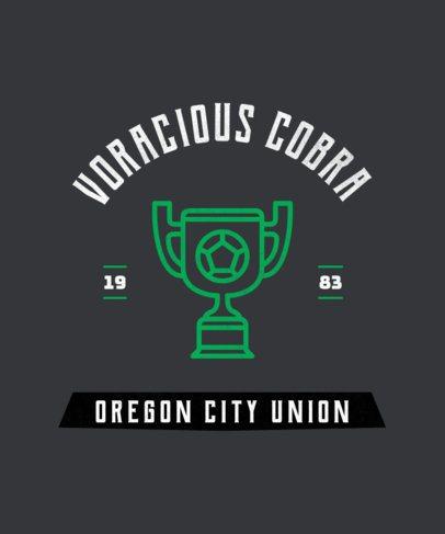 T-Shirt Design Template for a Fierce Soccer Team 484j