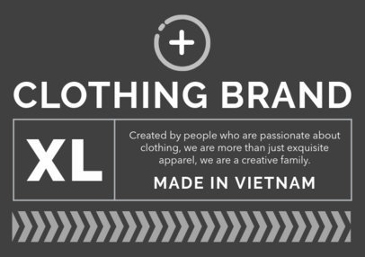 T-Shirt Label Design for a Casual Clothing Brand 1139