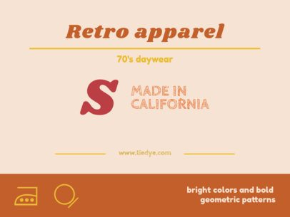 Vintage Clothing Label Design Template 1148e