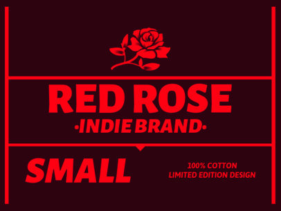 Tee Label Design Template for Indie Brands 1144c