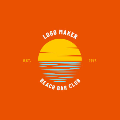 Beach Bar Logo Maker for a Beach Club 1758c
