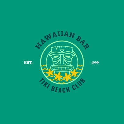 Tiki Beach Club Logo Maker for a Hawaiian Bar 1758d