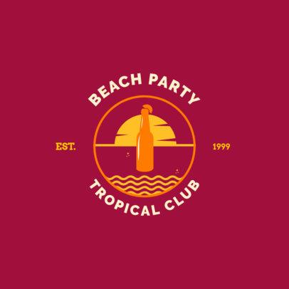 Tropical Club Logo Maker for a Beach Club 1758e