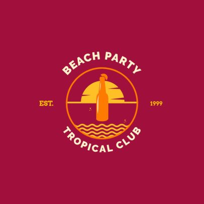 Tropical Club Logo Maker for a Beach Club 1758e
