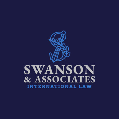 Professional Lawyer Logo Maker with Ornamental Letter 1853d