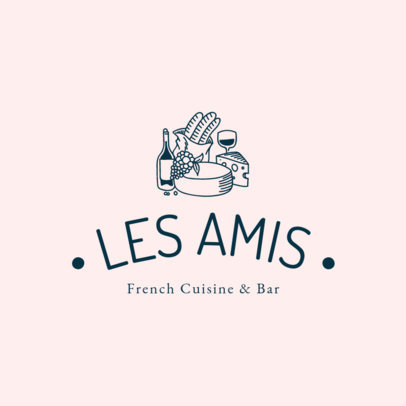Bistro Logo Generator with French Food Clipart 1807a