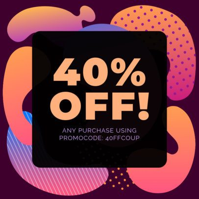Discount Coupon Template with Chromatic Design 1031e