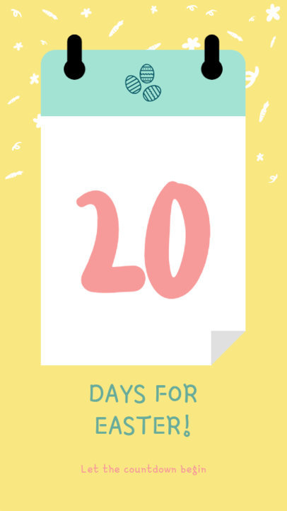 Instagram Story Template for an Easter Day Countdown 1000f