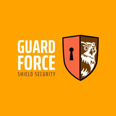 Security Company Logo Template with Original Shield Clipart 1788d