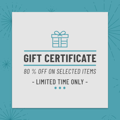 Design Template for a Limited Time Gift Coupon 1020c
