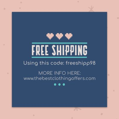 Shipping Coupon Maker with a Lovely Design 1020e