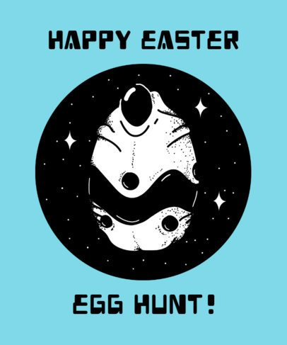 Alien T-Shirt Design Template with Funny Easter Quote 445f