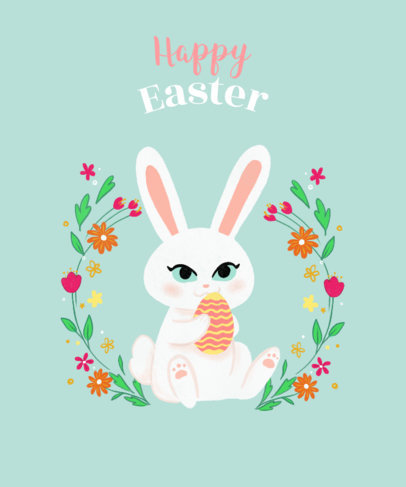 Tee Design Template with Easter Bunny Graphics 827f