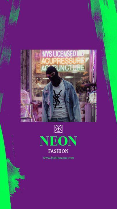 Neon Instagram Story Template 963e