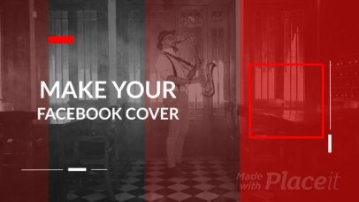 Facebook Cover Video Maker with Logo Motion Graphics 1236